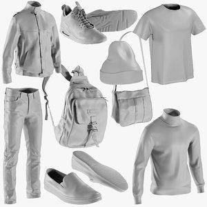 3D model mesh clothing mix 8