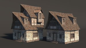 medieval fantasy house 3D model