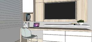 3D mueble tv escritorio