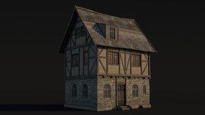 medieval fantasy house 3D