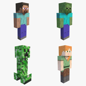 minecraft characters pack model
