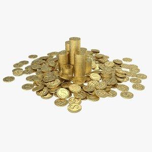 dollar coin pile model