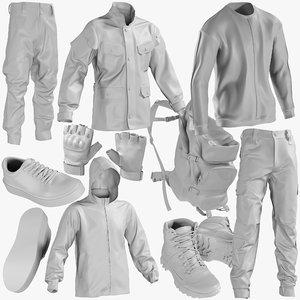 3D mesh clothing mix 9 model