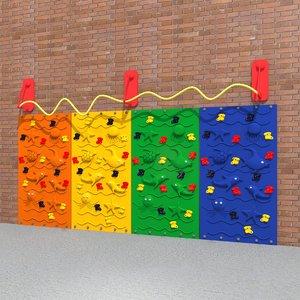 kids climbing wall 3D model