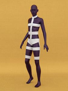 bandage costume 3D model