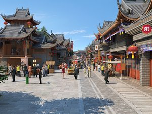 ancient commercial street walking 3D model