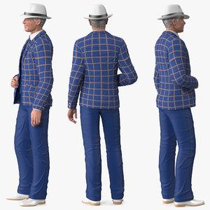 elderly man leisure suit model
