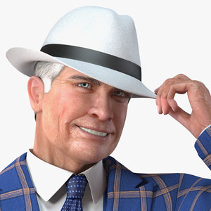 elderly man leisure suit 3D model
