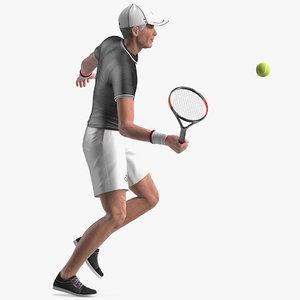 3D elderly man sport wear