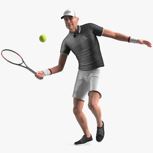 elderly man sport wear 3D model