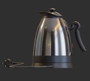 3D kettle electric kitchenware cookware model
