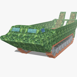 3D model vehicle tank