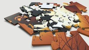 children set puzzle 3D