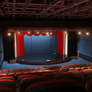 real theater interior scene 3D model