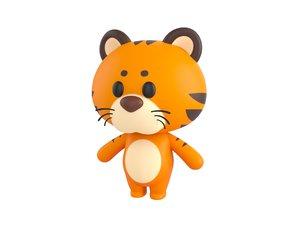 3D tiger character model