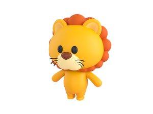 3D lion character model