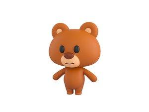 3D bear character