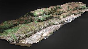 mountain rock scan 3D