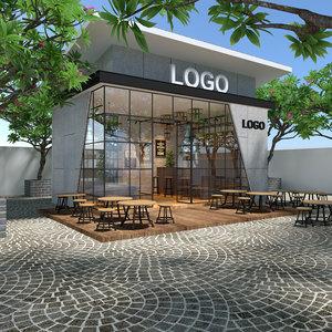 3D cafe modern