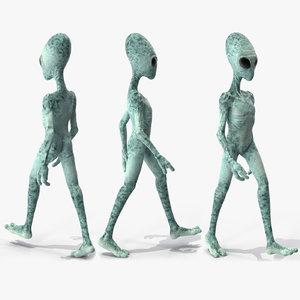 extraterrestrial alien rigged modo 3D model