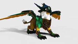 mythological creature gryphon 3D model