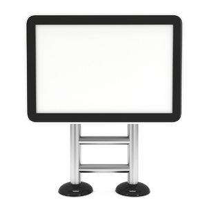 3D model lcd screen lightbox floor