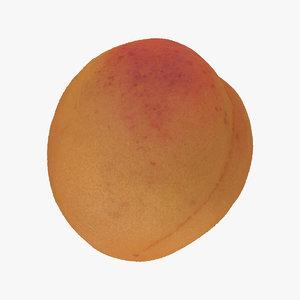 3D model apricot small 03 raw