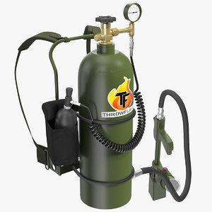3D throwflame xl18 backpack flamethrower