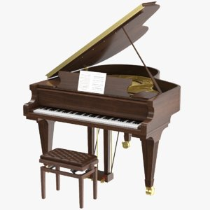 3D model real grand piano