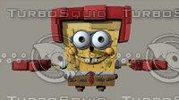robot SpongeBob SquarePants Characters Game Ready