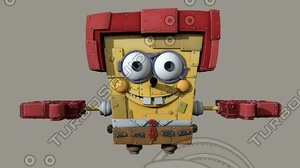 spongebob squarepants characters ready 3D model