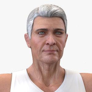 old man underwear rigged 3D model