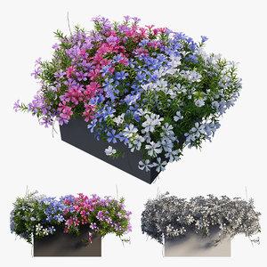 3D plant flower set 03