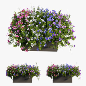 plant flower set 04 model