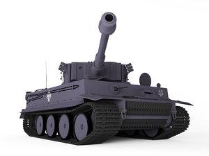 pzkpfw tiger 3D