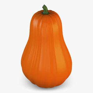 3D cartoon pumpkin v 2