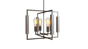 zinger 4light chandelier 3D model