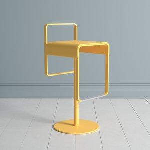 kastel kyro stool 3D model