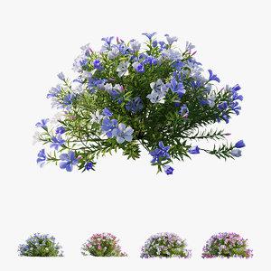 plant flower set 10 3D model
