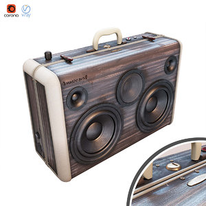 portable speaker 3D model