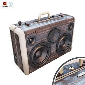 portable speaker 3D model