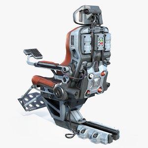 3D pilot seat
