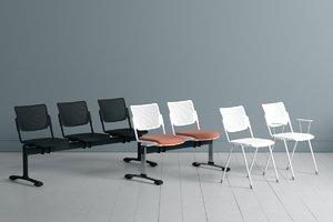 3D lafilo armchair upholstered model