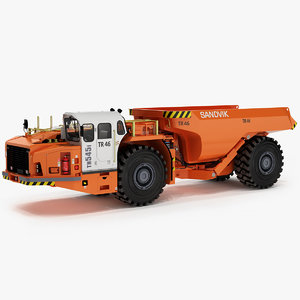 sandvik th545i articulated underground 3D model