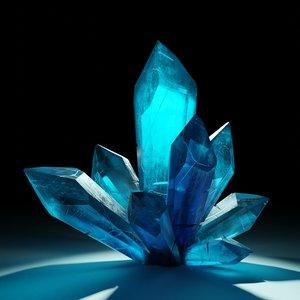 sci-fi crystals minerals model
