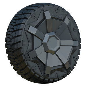 3D tesla cybertruck wheel model