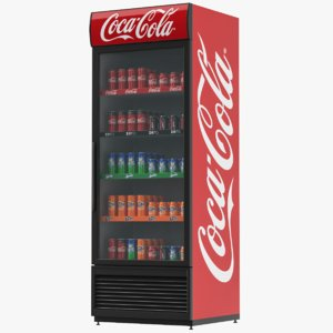 3D model refrigerator display