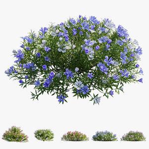 3D model plant flower set 17