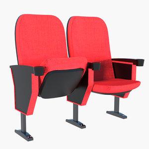 chair theatre 3D model