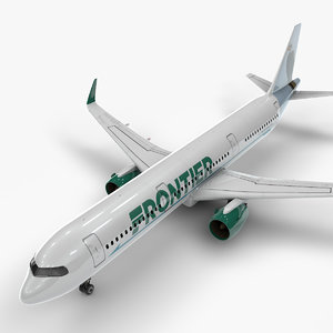 3D a321 neo frontier airlines